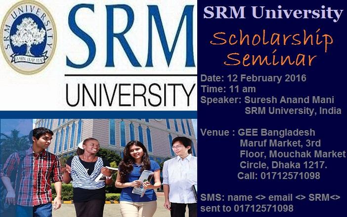 SRM University Scholarship Seminar