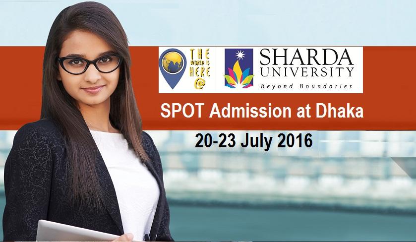 Join Sharda University SPOT Admission at Dhaka