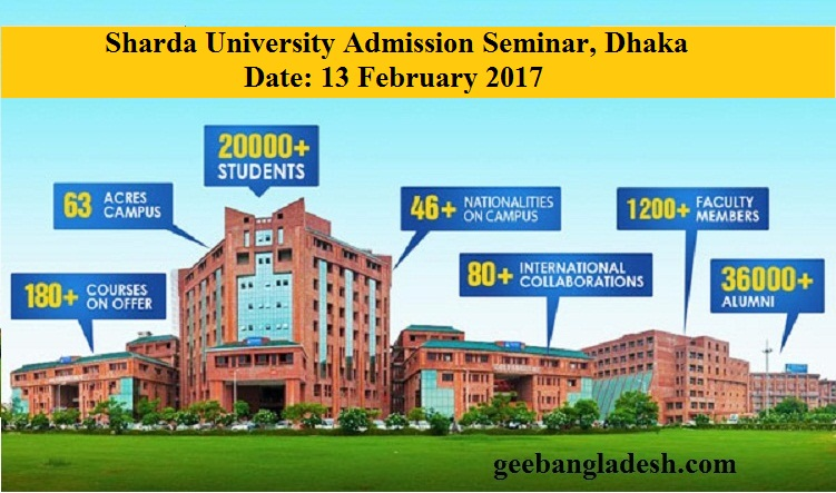 Meet Sharda University Officer in Dhaka