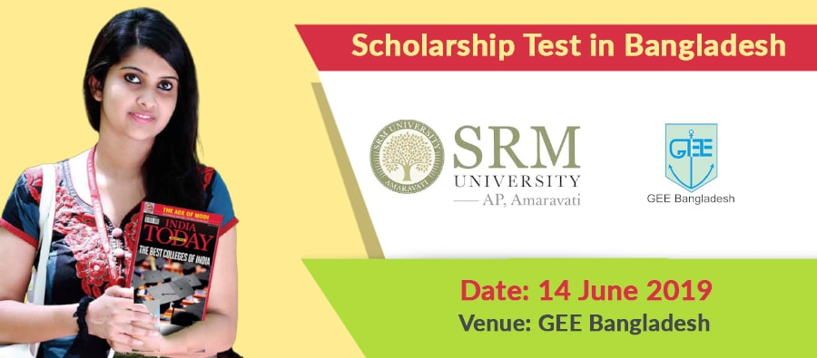 SRM University Scholarship Exam on June 14