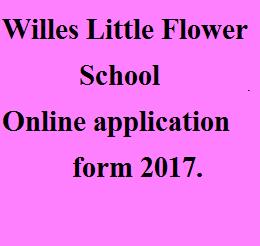 WIlles Little Flower School application form