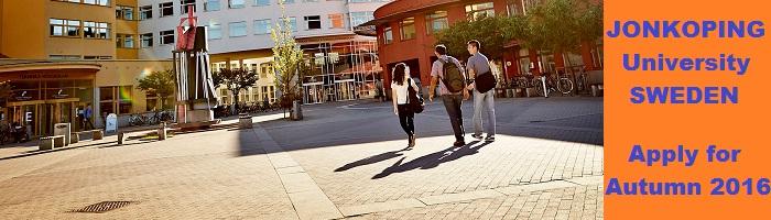 Jonkoping University Sweden, apply for Autumn 2016