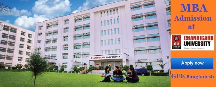 MBA admission at Chandigarh University, India