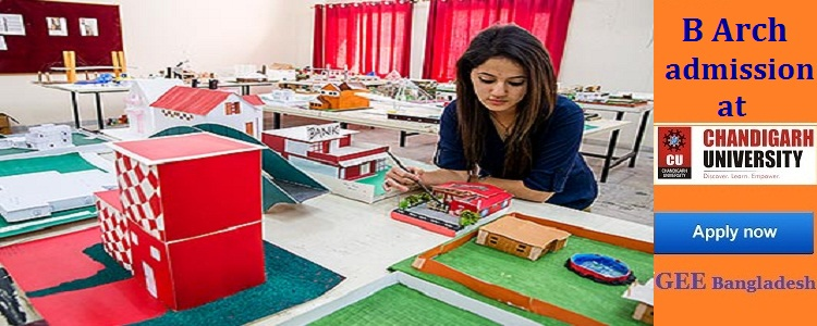 B Arch admission at Chandigarh University, India