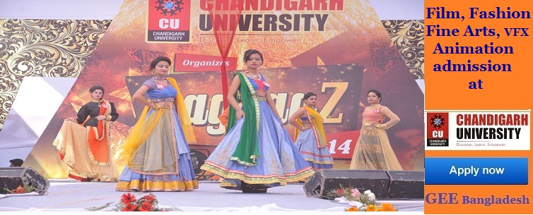 Fashion, Fine art, film and animation studies at Chandigarh University, India