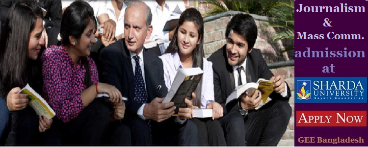 Journalism studies at Sharda University, India
