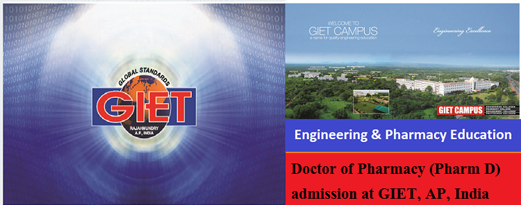Doctor of Pharmacy (Pharm D) admission at GIET, India