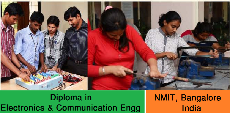 Diploma in Electronics and Communication Engineering admission at NMIT Bangalore India