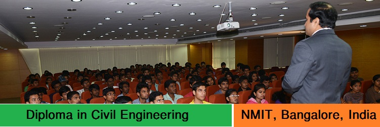 Diploma in Civil Engineering admission at NMIT Bangalore India
