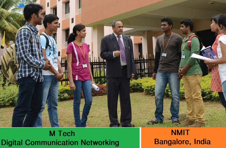 M Tech Digital Communication and Networking admission at NMIT Bangalore