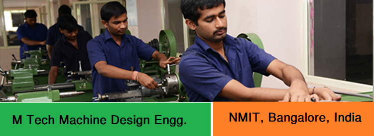 M Tech Machine Design Engineering admission at NMIT Bangalore