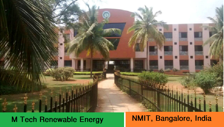 M Tech Renewable Energy admission at NMIT Bangalore