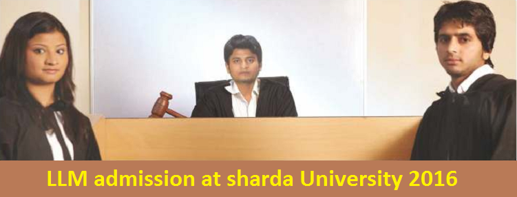 LLM admission at Sharda University