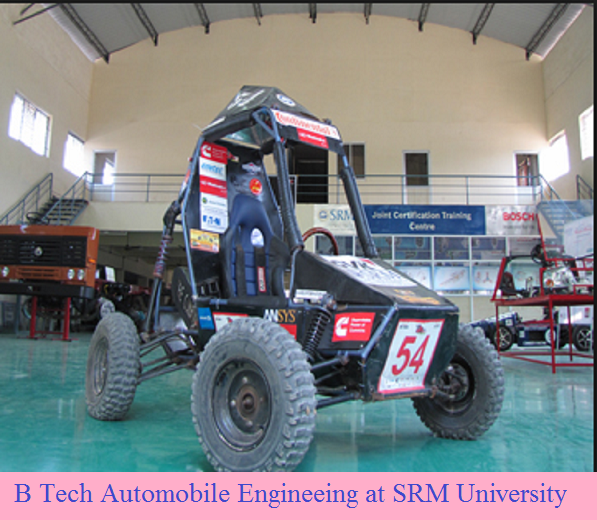 B Tech Automobile Engineering admission at SRM University