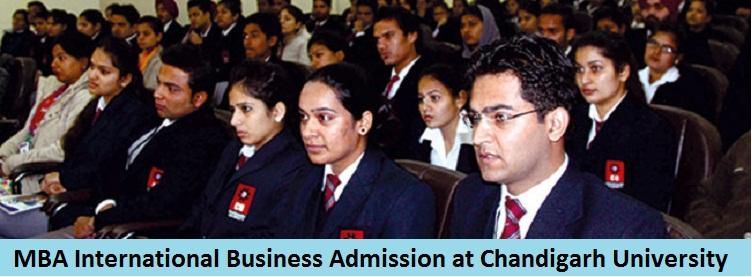 MBA International Business Admission at Chandigarh University