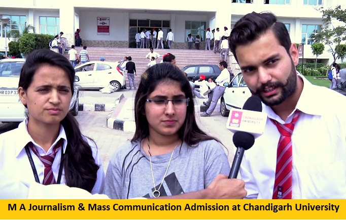 M A Journalism and Mass Communication Admission at Chandigarh University