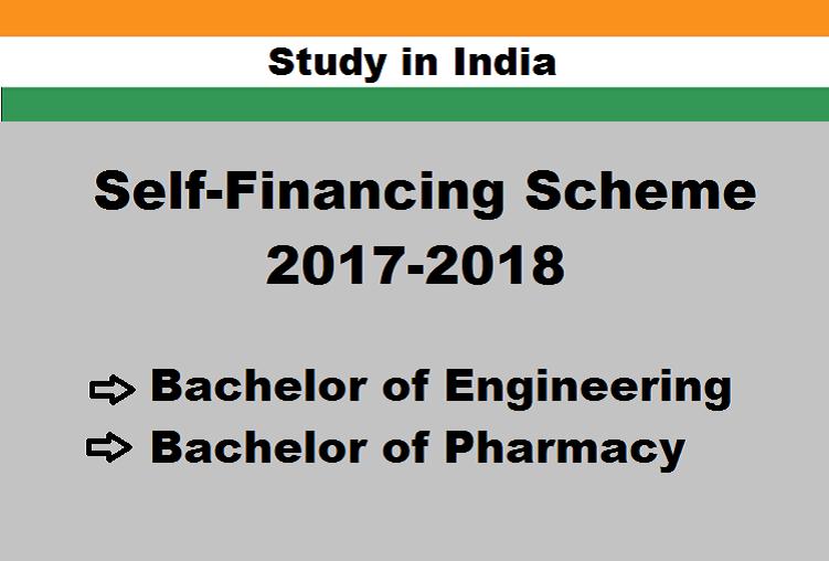 Study in India under Self Finance Scheme 2017-18