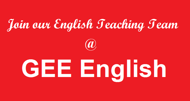 Join English Teaching Team at GEE English