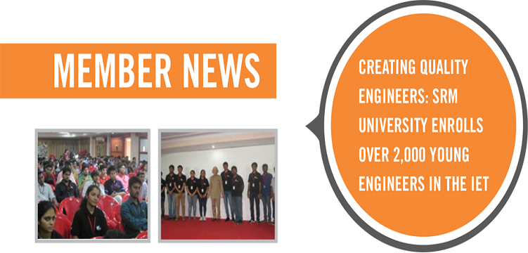 SRM University has the Largest IET Student Member Community