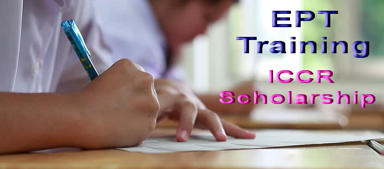 EPT Training for ICCR Scholarship 2018-19
