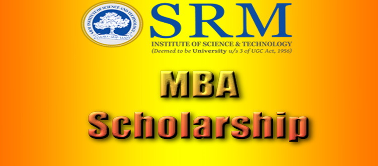 MBA Scholarship at SRM