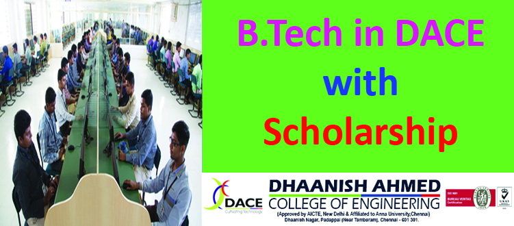 B Tech at DACE with Scholarship