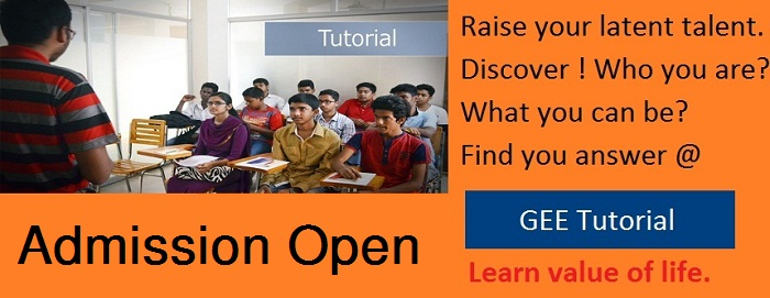 Admission going on at GEE Tutorial