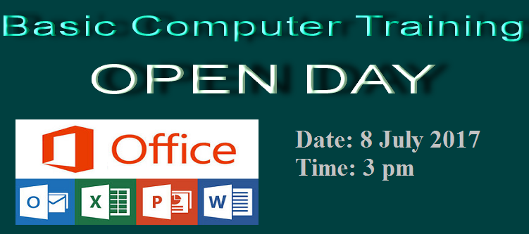 Basic Computer Training Open Day on July 8