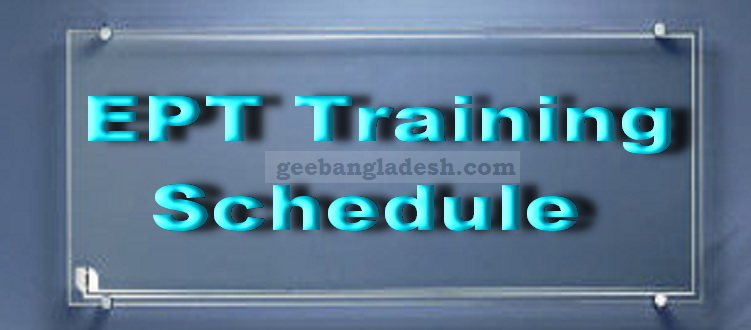 Revised EPT Class Schedule 2018-19