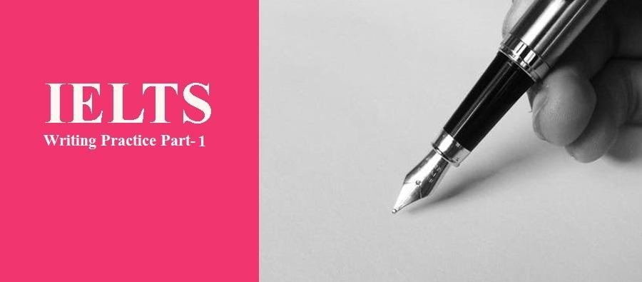 IELTS Writing Practice Part-1