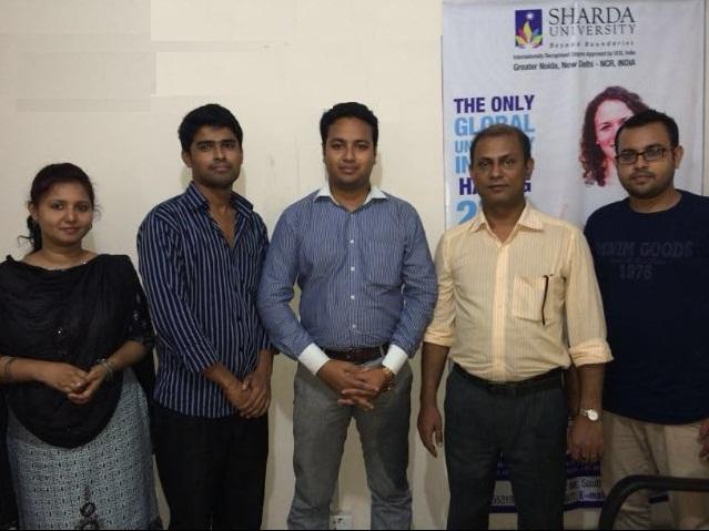 Mr Rakesh Dhenki of Sharda University at GEE Bangl