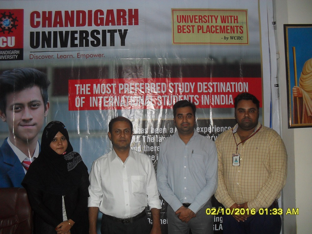 Chandigarh University officers at GEE Bangladesh